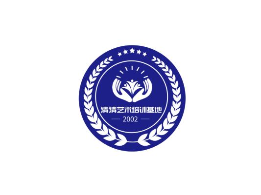 深蓝色商务艺术徽章图标标志LOGO设计