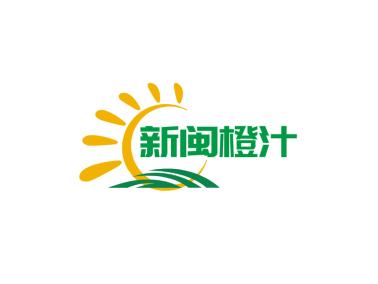 綠色清新陽光牧場水果門頭店鋪logo設計
