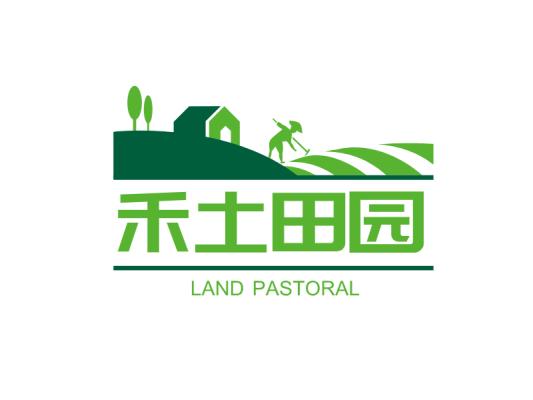 绿色自然房屋农田人物门头店铺图标标志logo设计