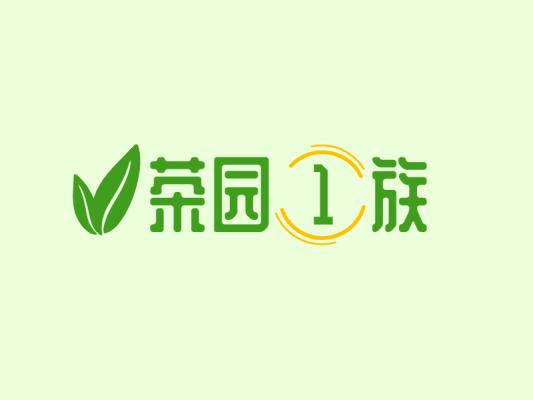 叶子植物简约清新图标logo设计