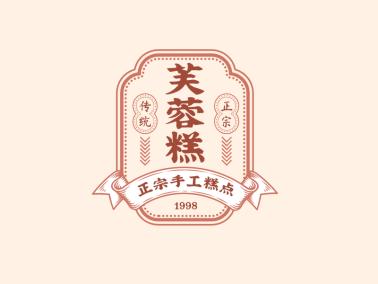 传统条幅复古中式徽章图标logo设计