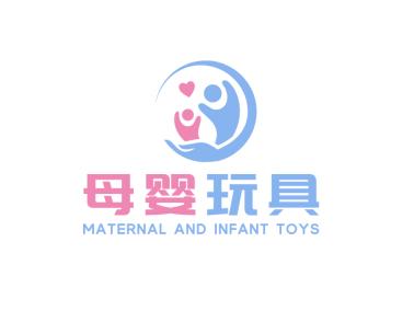 卡通母婴彩色清新标志logo图标设计