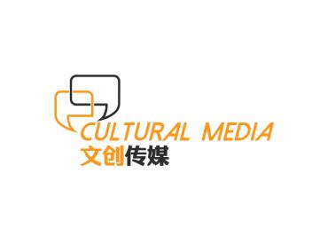 对话框简约文创传媒公司图标标志logo设计
