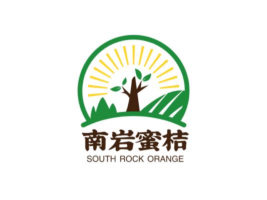 绿色创意南岩蜜桔水果产品商标图标标志LOGO设计