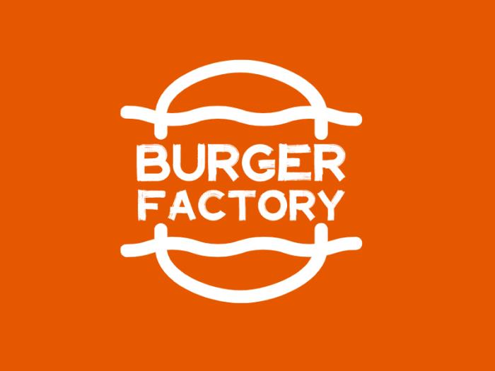 橙色温暖活泼西餐厅汉堡快餐店铺创意英文logo设计