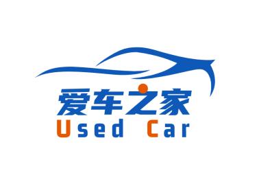 蓝色创意简约汽车服务logo设计