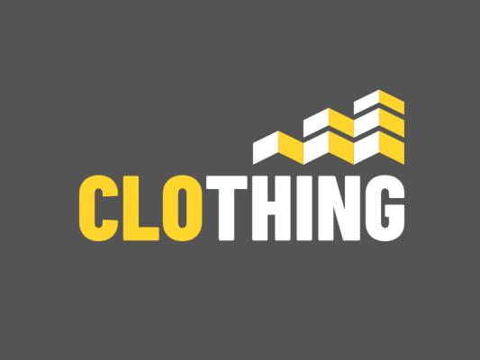 简约服装字母logo设计