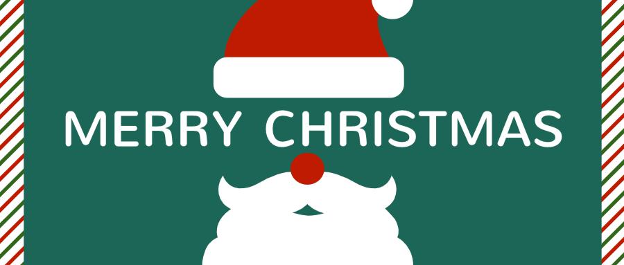 绿色圣诞简约创意微信公众号首图设计