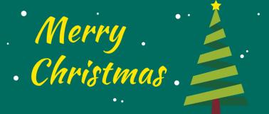 绿色简约圣诞树微信公众号首图设计