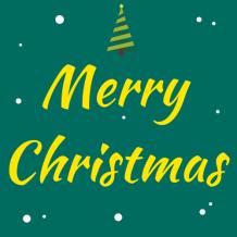 綠色簡約圣誕微信公眾號次條封面設計