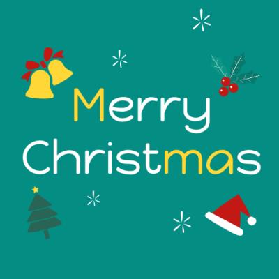 绿色圣诞可爱微信公众号次条封面设计