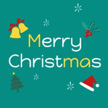 綠色圣誕可愛微信公眾號次條封面設計