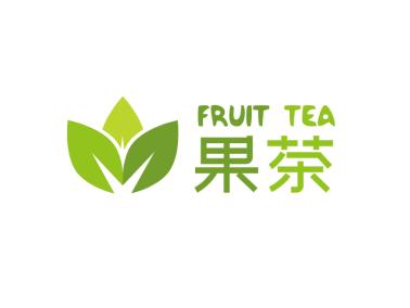 绿色简约清新水果奶茶店铺logo设计