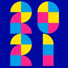 藍色2021新年活潑年會活動公眾號次條封面設計