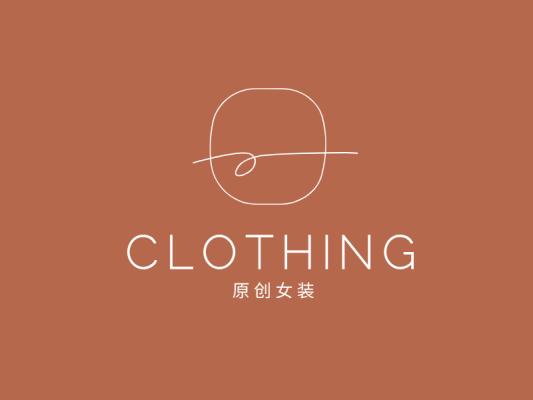 极简线条女装店铺logo设计