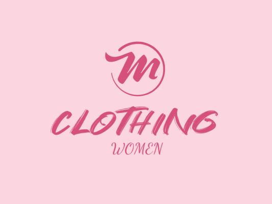 粉色清新服装店铺字母logo设计