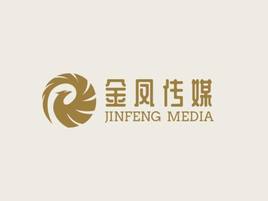 金色简约高级金凤传媒凤凰logo设计
