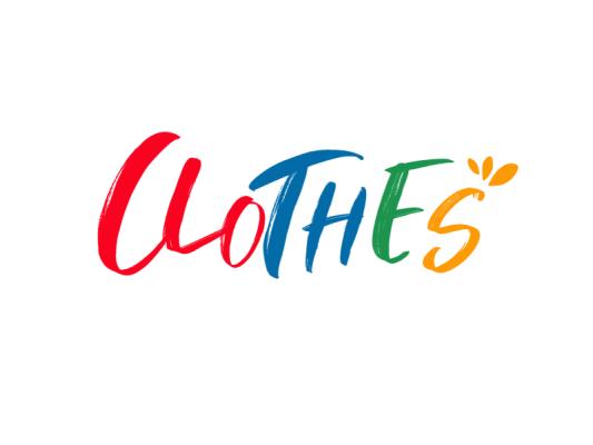彩色活泼服装店铺字母logo设计