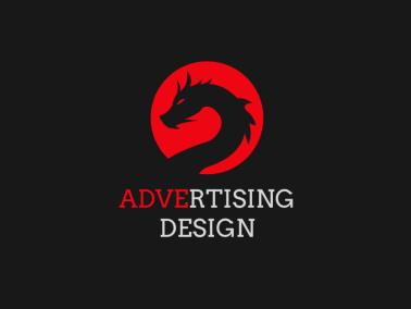 深色简约酷炫龙logo设计