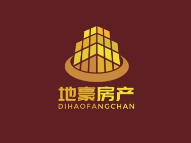 深色简约地产房产logo设计