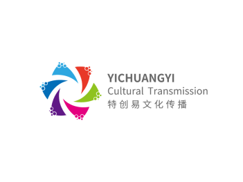 彩色活泼文化传播公司logo设计