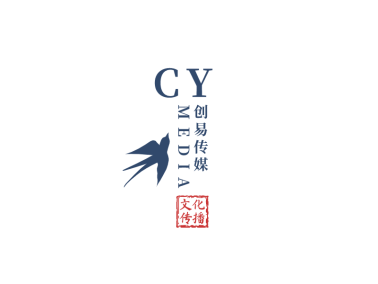 深色创意简约古风印章文化传媒公司logo设计