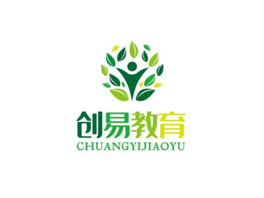 綠色簡約K12教育機構徽章logo設計