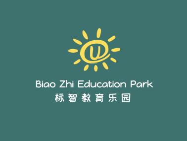 黄色卡通太阳教育机构班级学校字母logo设计