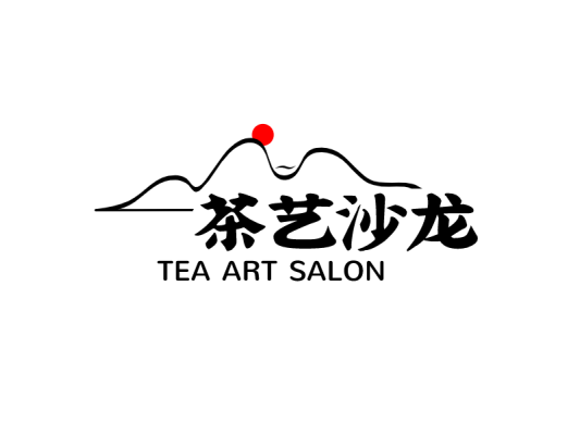 简约中国风茶艺茶馆店铺门头图标标志logo设计
