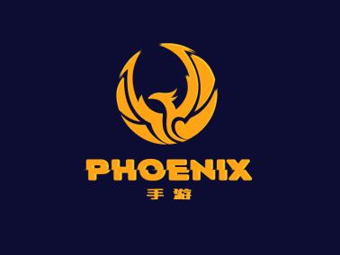 深色酷炫电竞手游凤凰logo设计