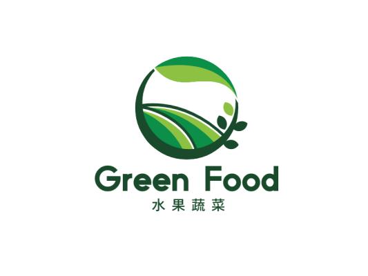 绿色清新农场水果生鲜果蔬果园logo设计