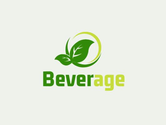 绿色简约树叶植物logo设计