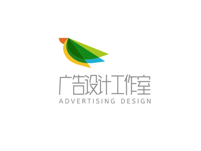 彩色创意简约抽象广告设计工作室logo设计