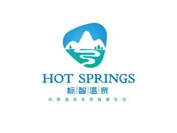 简约绿色清新山景区造型logo设计