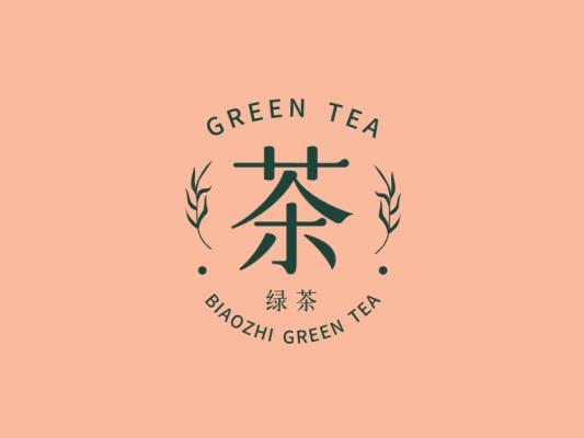 文艺清新文字徽章logo设计