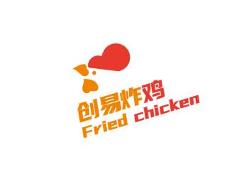 卡通简约炸鸡店铺logo设计