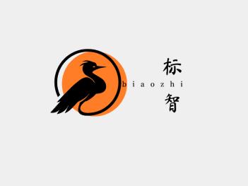 中式创意仙鹤鸟logo设计