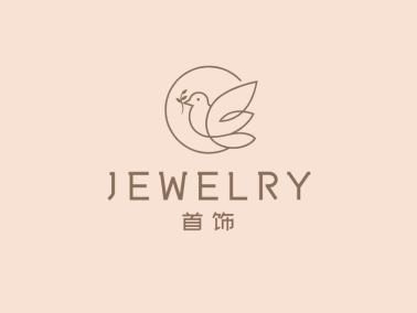 清新文艺服装饰品店铺鸟logo设计