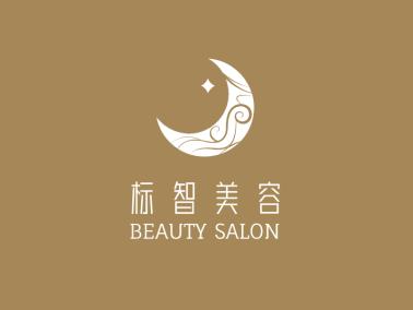 奢华时尚美容护肤月亮logo设计