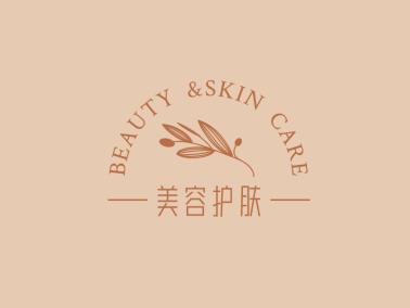 清新文艺美容护肤创意店铺logo设计