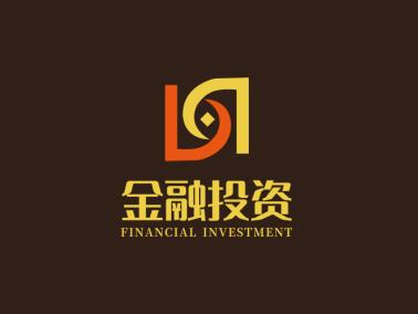 黄色红色链条简约大气金融钱币logo设计