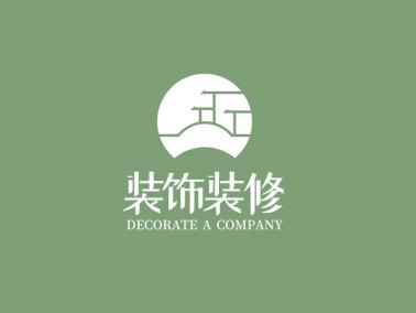 绿色清新创意建筑logo设计