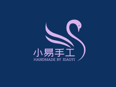 紫色文艺轻奢传统手工定制天鹅logo设计