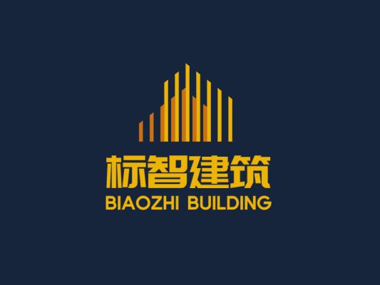 金色简约创意建筑工业公司logo设计