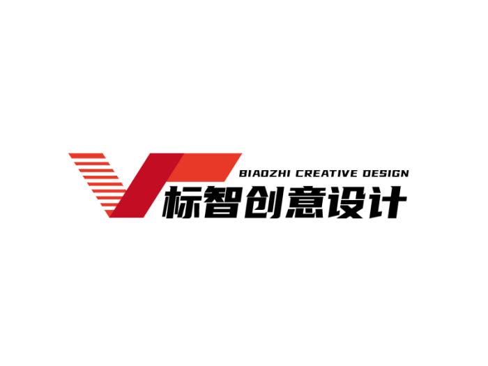 红色简约创意商务广告设计公司logo设计