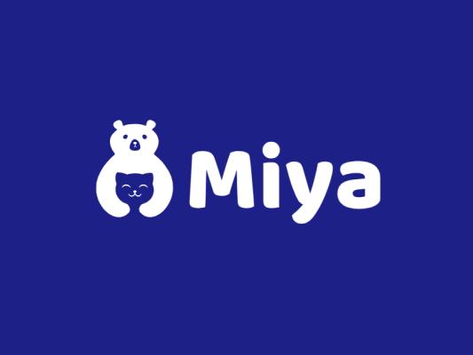 简约创意抱抱熊logo设计