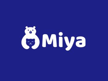 蓝色创意熊猫英文logo设计