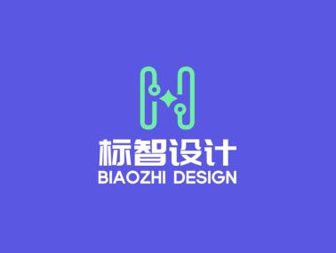 綠色簡約創意字母logo設計