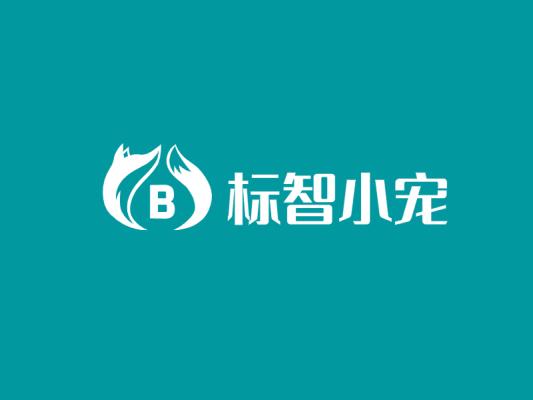 青色简约创意宠物店logo设计