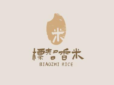 浅色创意日式农产品店铺logo设计